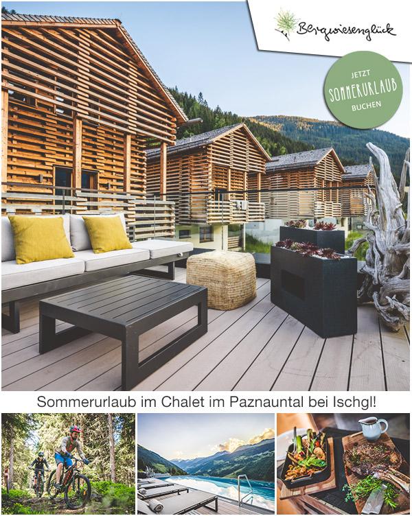 Bergwiesenglück - Sommerurlaub im Chaletdorf im Paznauntal bei Ischgl